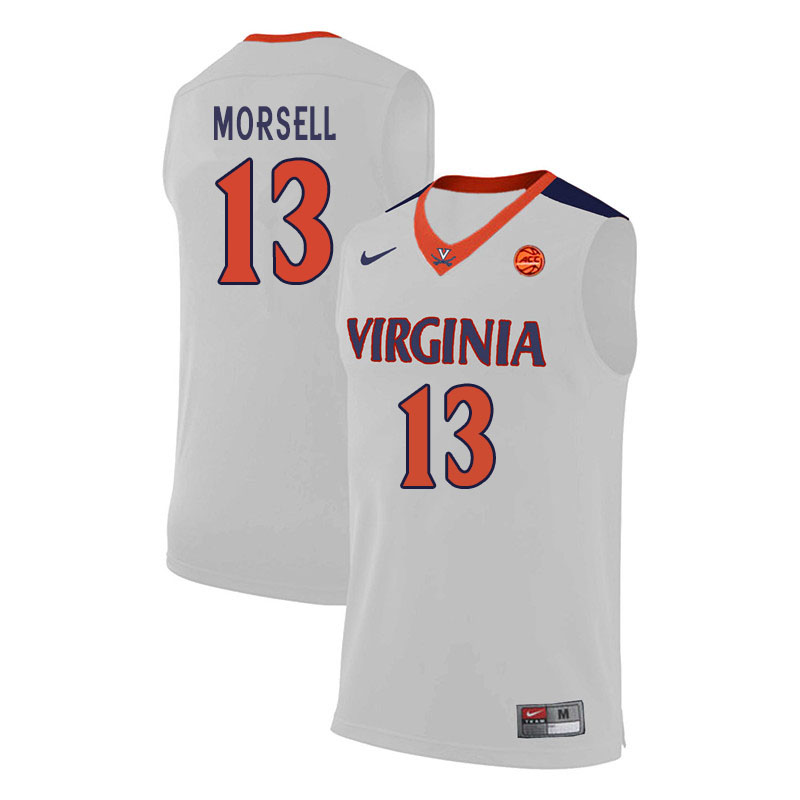 Men #13 Casey Morsell Virginia Cavaliers College Basketball Jerseys Sale-White