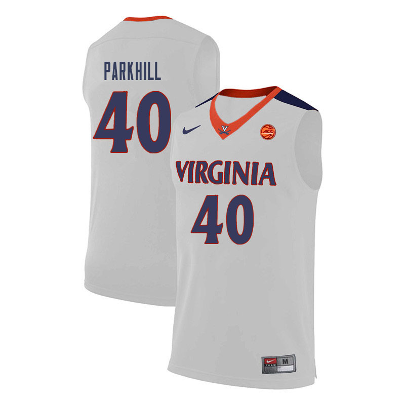 Men Virginia Cavaliers #40 Barry Parkhill College Basketball Jerseys-White