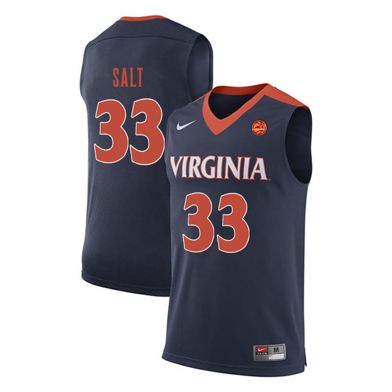 Men Virginia Cavaliers #33 Jack Salt College Basketball Jerseys-Navy