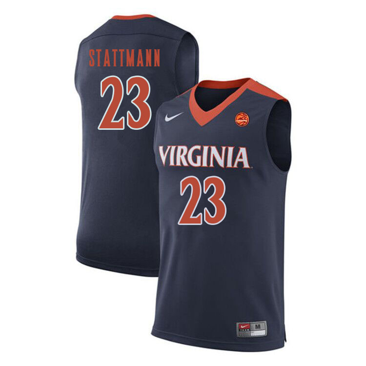 Men Virginia Cavaliers #23 Kody Stattmann College Basketball Jerseys Sale-Navy