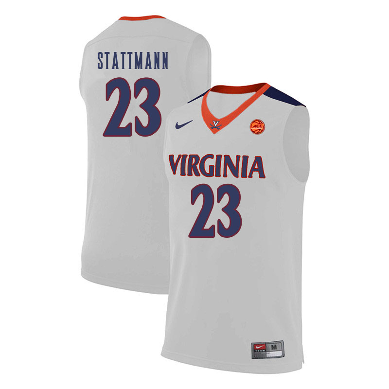 Men Virginia Cavaliers #23 Kody Stattmann College Basketball Jerseys Sale-White