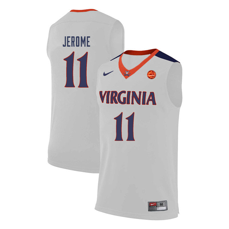 Men Virginia Cavaliers #11 Ty Jerome College Basketball Jerseys-White