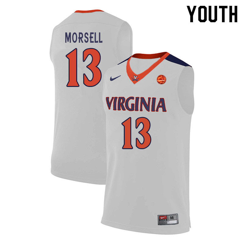 Youth #13 Casey Morsell Virginia Cavaliers College Basketball Jerseys Sale-White